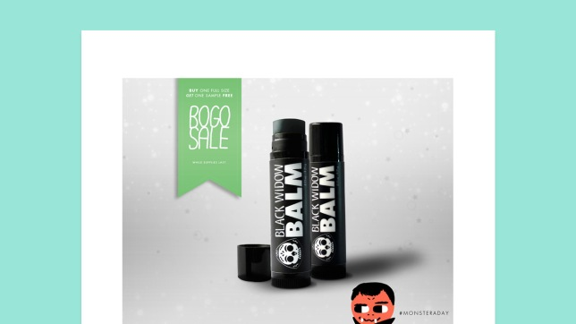 Black Widow Balm #monsteraday promo design