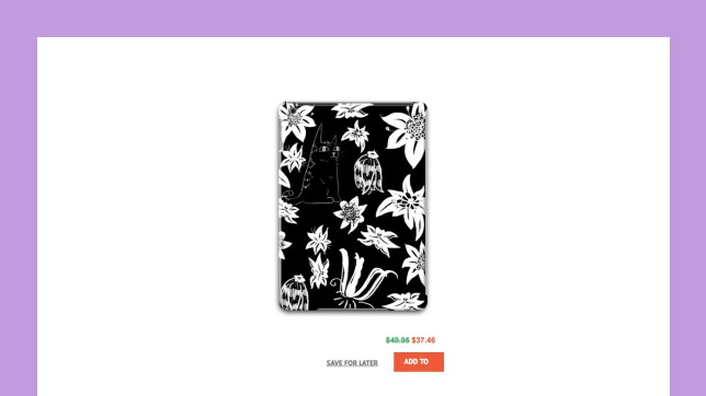 Ghost Flowers textile/product pattern design