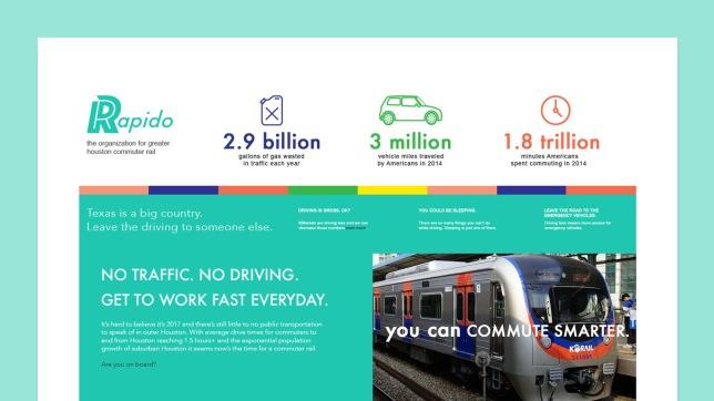 Rapido transit mockup web design